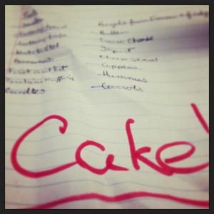 Cake List